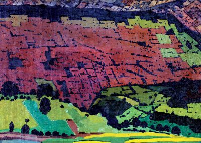 """Imereti"" oil on canvas mounted on cardboard, 28X39cm. 1934"