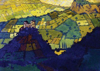"""Imereti"" oil on cardboard, 25,5X32cm. 1918"