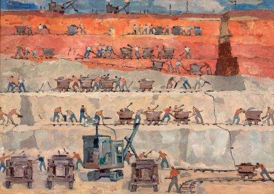 """""""Processing Gumbrine in the vicinity of Kutaisi"""" oil on cardboard, 50X70cm. 1951"""
