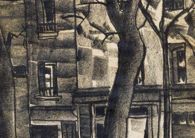 "From the series ""Paris"" sanguine on paper, 23X18cm. 1920"