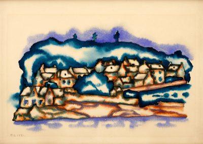 """Bretagne"" watercolor on paper, 16,3X25,3cm. 1921"