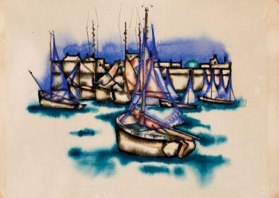 """Bretagne"" watercolor on paper, 24X32cm. 1921"