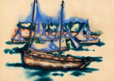 """Bretagne"" gouache on paper, 27X21cm. 1921"