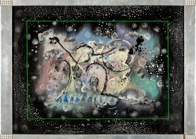 """""""Biological abstraction"""" mixed media on cardboard, 62X46cm. 1927"""