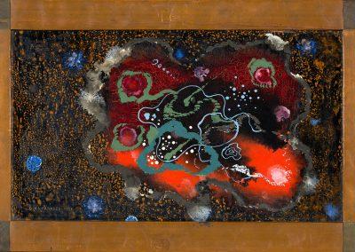 """Decorative motive"" oil on cardboard, 33,5X52,5cm. 1927"