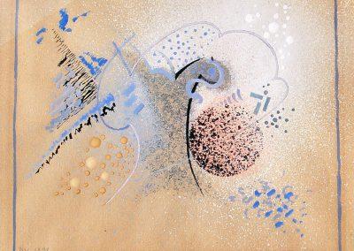 """Composition"" pastel and gouache on paper, 15X19cm. 1926"