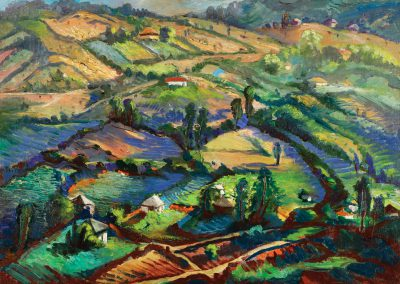 """""""Vachevi"""" oil on canvas, 49,5X70cm. 1962 <br><a href=""""https://www.baiagallery.ge/en/contact/"""">Price Under Request</a>"""