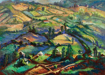 """Vachevi"" oil on canvas, 49,5X70cm. 1962"