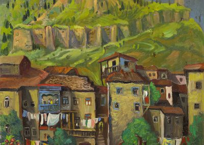 """""""The corner of Old Tbilisi"""" oil on canvas, 70X60cm. 1970"""