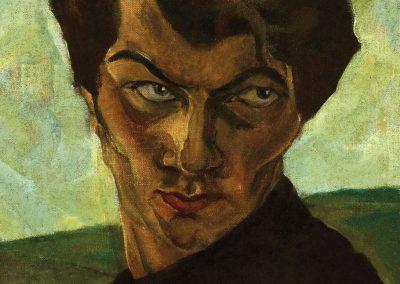 """""""Self-portrait"""" oil on canvas, 33X29,5cm. 1924-1926s"""
