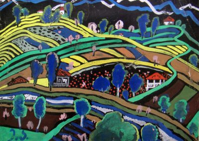 """""""Landscape"""" gouache on paper, 18X23,5cm."""