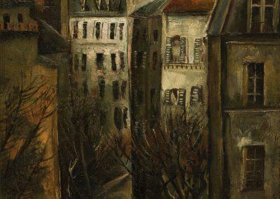 """""""A corner of Paris"""" oil on canvas, 65X54cm. 1927"""