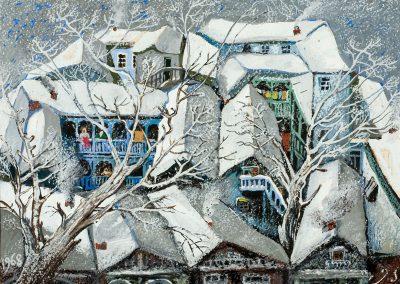 """Winter"" gouache on paper, 23,5X32cm. 1968"