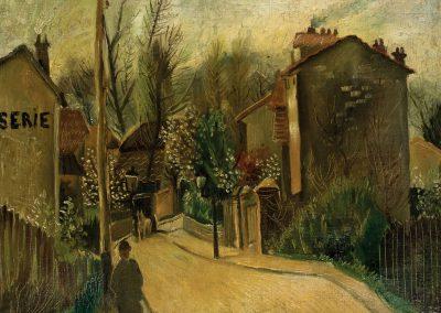 """Street of Paris"" oil on canvas, 47X55cm. 1920s"
