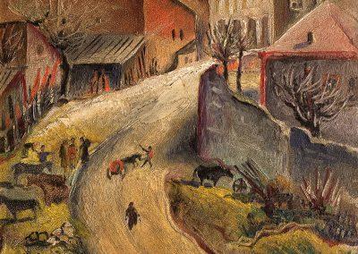 """Kutaisi"" oil on cardboard, 48X36,5cm. 1919"