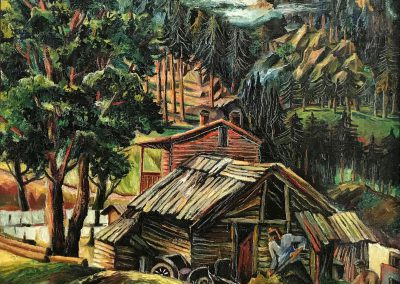 """Abastumani"" oil on canvas, 50X50cm. 1930"