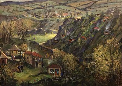 """Kartli"" oil, canvas, 71X90cm. 1969-1970"