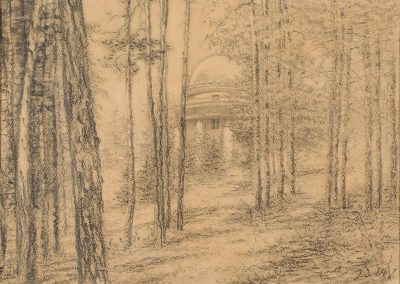 """""""Abastumani"""" pencil on paper, 24,8X31,5cm. 1964<br><a href=""""https://www.baiagallery.ge/en/contact/"""">Price Under Request</a>"""