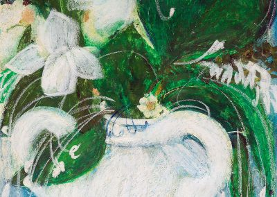 """""""Flowers"""" pastel on paper, 46X26cm. 1985 <br><a href=""""https://www.baiagallery.ge/en/contact/"""">Price Under Request</a>"""