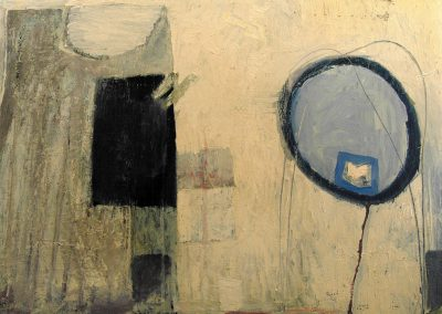 """""""Annunciation"""" oil on canvas, 164X134cm. 1986 <br><a href=""""https://www.baiagallery.ge/en/contact/"""">Price Under Request</a>"""