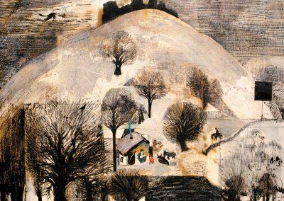 'Christmas in Abastumani' pastel on paper, 60X48,4cm. 1985