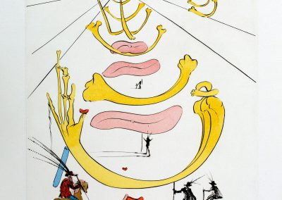 Salvador Dali 'Masque De La Mort'. Etching with drypoint in colors, 50×36.5cm. 1975. Edition 73/240. Price: 2500$