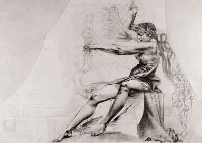 """Curtain sketch for Tbilisi Opera and Ballet State Theatre, pencil on paper, 95X119cm. 1960 <br><a href=""""https://www.baiagallery.ge/en/contact/"""">Price Under Request</a>"""