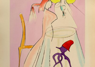 Salvador Dali From the series 'Japanese fairy tales'. Drypoints with pochoir in colors, on Arches paper Gerschmann, 48×38.5cm. 1995. Price: 1800$