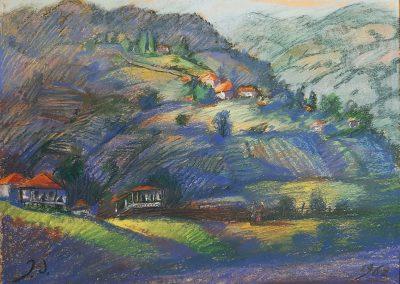 "'Vachevi' pastel on paper, 35,7X48,5cm. 1962 <br><a href=""https://www.baiagallery.ge/en/contact/"">Price Under Request</a>"